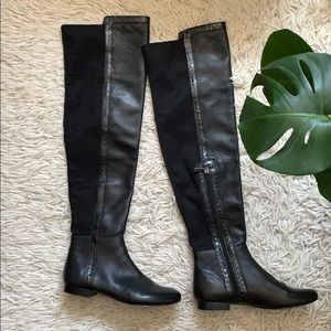 Vince Camuto Over the Knee Black Boots Size 7